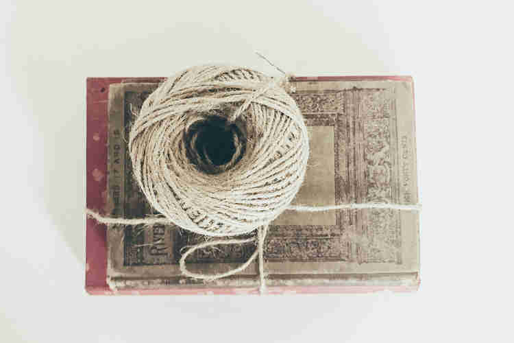 brown twine thread for crafts