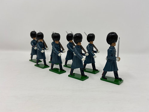 Set 21 - Grenadier Guards in greatcoats marching, at slope