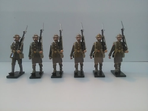 Special Offer - WWI British soldiers marching, rifles at slope