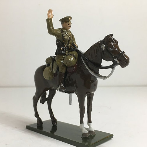 Fig 177, WW Officer, Mounted, Arm Raised