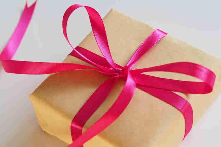 pink craft ribbon wrap