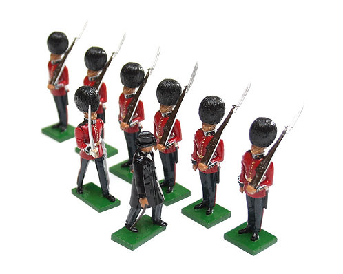 Set 2 - Scots Guards, 1 Officer, 6 Guardsmen, Churchill inspecting.