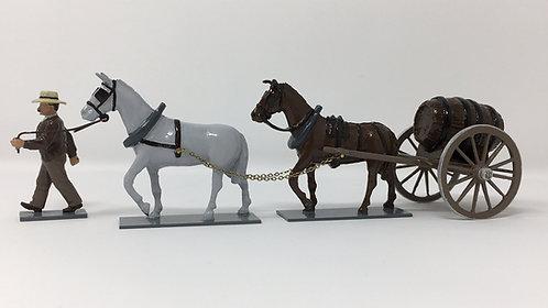 Set 212 - Mule Cart, with water barrel