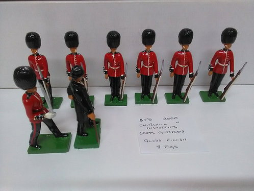 Special Offer - Churchill Inspecting Scots Guards (Gloss)