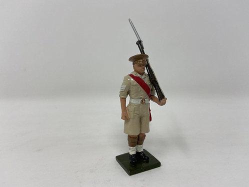 Fig 124 - Scots Guards Sergeant, Peak Cap, at Attention