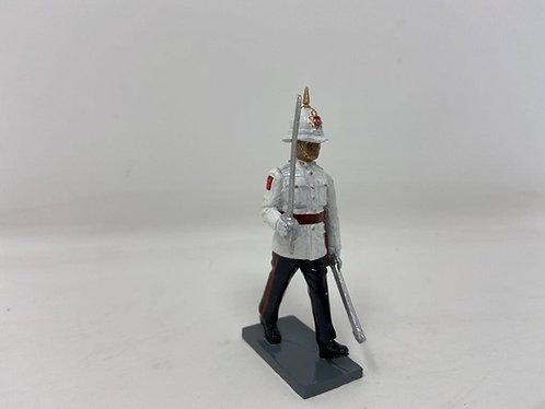Fig 250 - Royal Gibraltar Regt. Officer at March in Ceremonial Dress