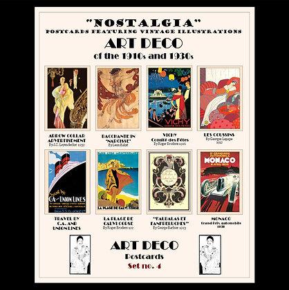 Art Deco Postcards Set No.4