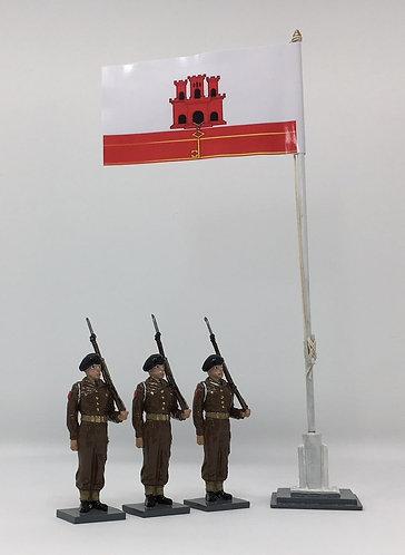 Set 211 - GDF troops at flagpole