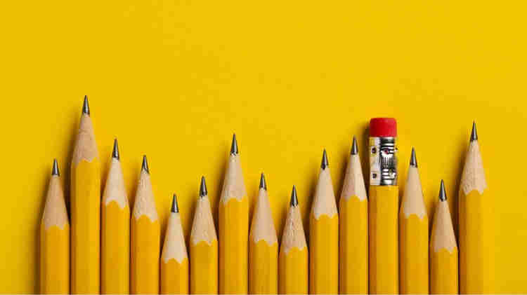 yellow pencils for sketches
