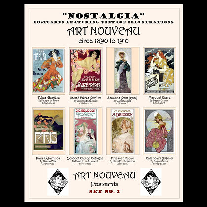 Art Nouveau Postcards Set No.2