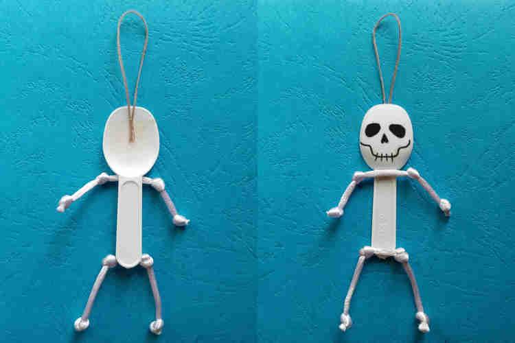 yogurt spoon halloween monsters