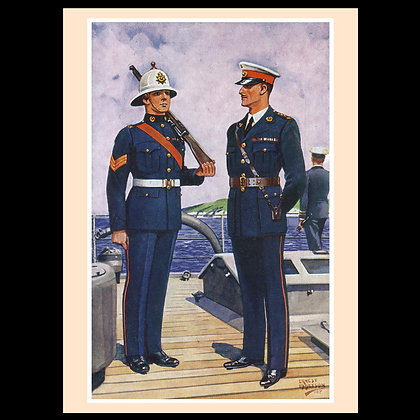 Uniforms of the Fighting Services Greeting Cards set2