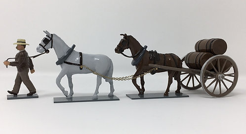 SET 213 - Mule Cart, with 3 barrels