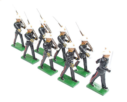 Set 38 - Royal Marines 1936 dress, marching, rifle at slope