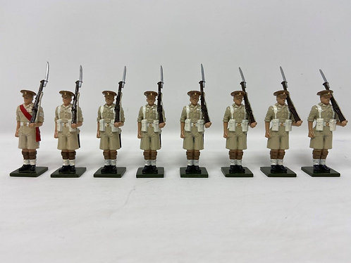 Set 121 - Scots Guards, Desert Campaign, Peak Caps at Attention