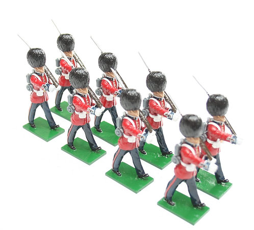 Set 49, Scots Guards in Slade Wallace dress, marching, rifle shouldered.