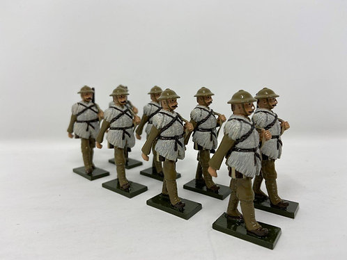 Set 79 - WWI troops, in sheepskins, slung rifles