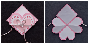 how to make a heart pop card