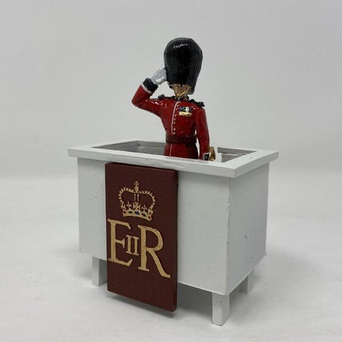 Fig 229 - Scots Guards Officer Taking the Salute