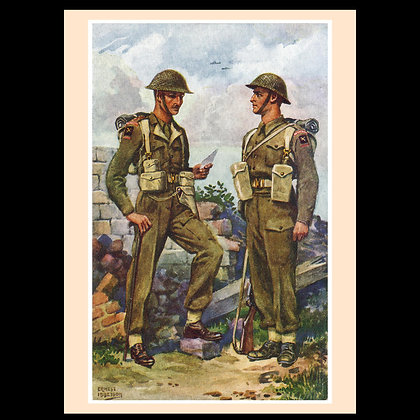 Uniforms of the Fighting Services Greeting Cards