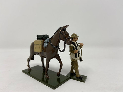 Set 67a, WWI Mule and Handler in Sheepskin