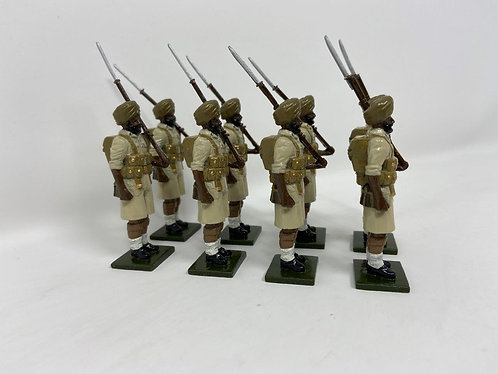 Set 131 - Sikh Troops, Desert Campaign, At Attention