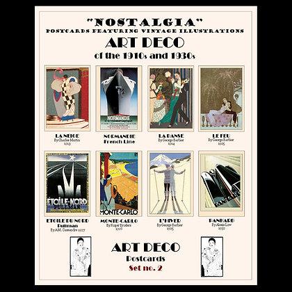 Art Deco Postcards Set No.2