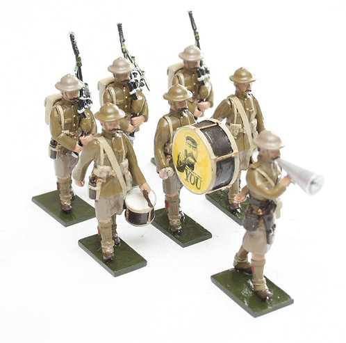 Set 119, WWI Recruiting Band, 7 figures.