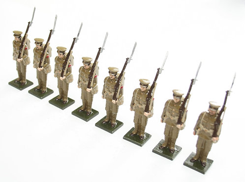 Set 53, WWI Soldiers, in peaked cap, at attention.