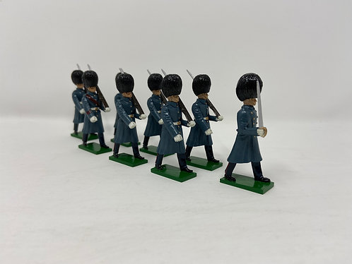 Set 21 - Welsh Guards in greatcoats marching, at slope