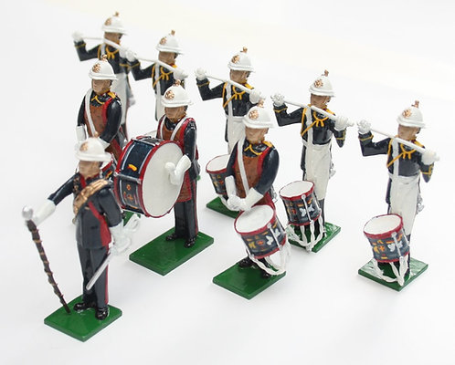 Set 114, Royal Marines Drum Corps, standing, 9 piece.