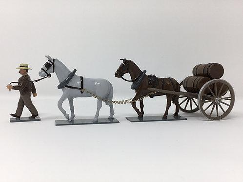SET 213 - Mule Cart, with 3 barrels