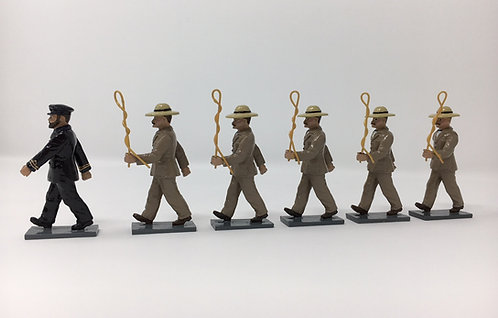 Set 208 - Los Carreteros De Ray Officer and men (brown jacket)
