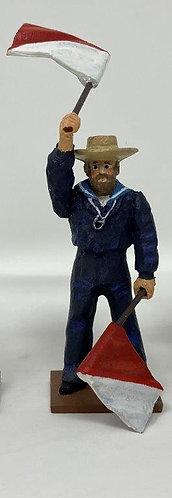 Fig 241c - Flagman Individual Naval Figure, Mid-late 1800s
