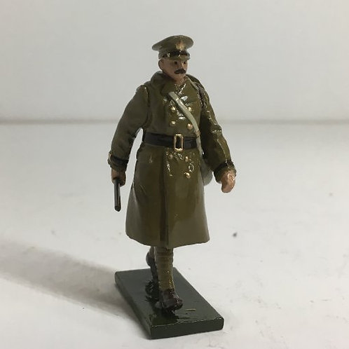 OTF 6, WWI Officer in trench coat, marching.