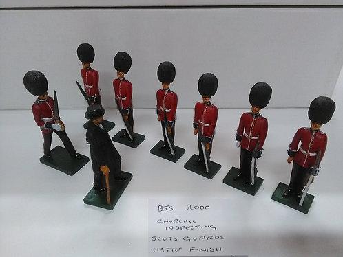 Special Offer - Churchill Inspecting Scots Guards (Matt)