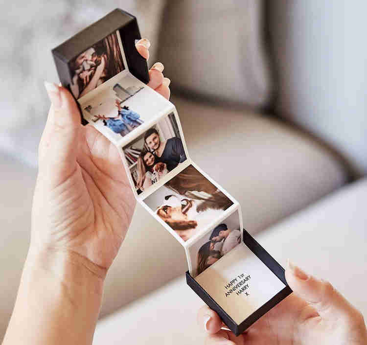 polaroid pictures in pull out photo box