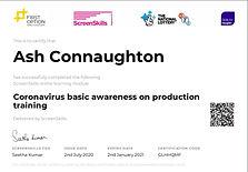 Ash Connaughton COVID-19 training certif