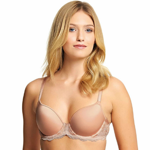 Soutien-gorge contour armatures Rose dust Lace Affair Bonnet B à G | Wacoal