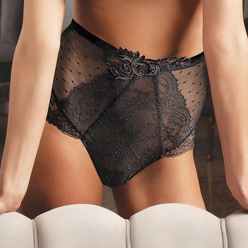 Culotte haute gainante noire Soirée libertine | Lise Charmel