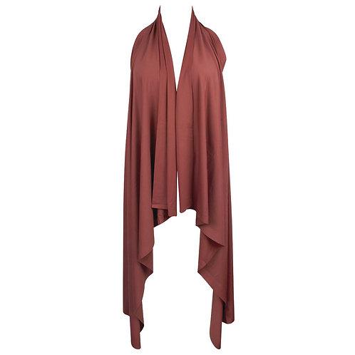 Robe Paréo de plage Ocre brune | Antigel