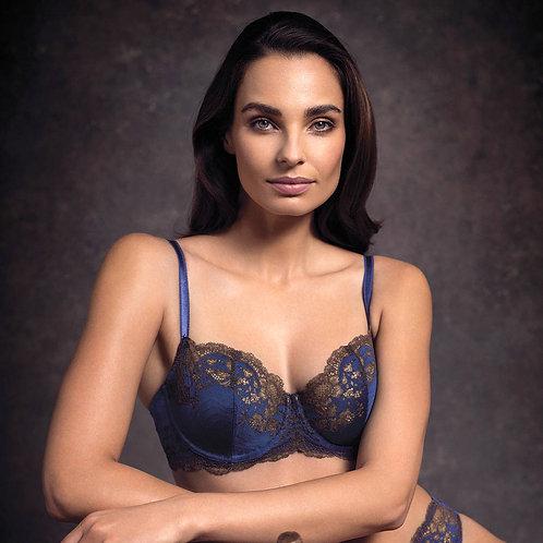 Soutien-gorge armatures Lace Affair Blue print Chocolate Bonnet C à G | Wacoal