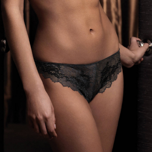Tanga Charcoal Lace Perfection S à XL | Wacoal