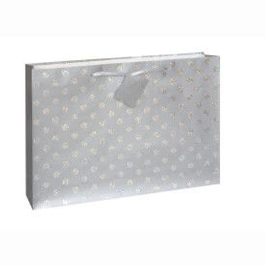 Bag Gift Glitter Dots Silver