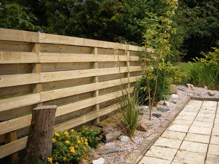 Fencing horizontal Ranch-Style-Hit-Miss-Fence