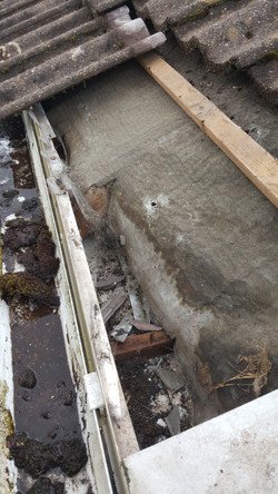Rotten eaves and damp roofline