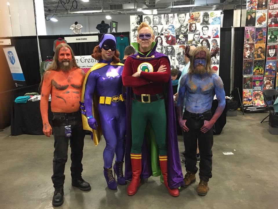 Steve, Bat Girl, Green Lantern and T