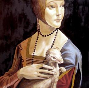 Copia de La dama con l'ermellino-Cecilia Gallerani - L. da Vinci