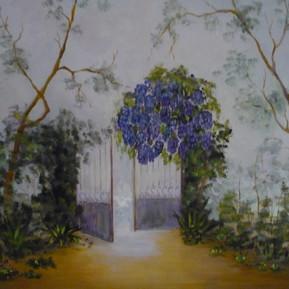 Cancello_con_glicine__olio_su_tela_cm.__