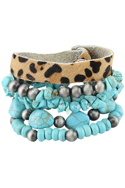 Turquoise and Navajo Layered Bracelet